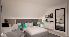 Sypialnia z turkusem - zdjęcie od 3ESDESIGN
