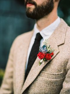 red boutonniere - ph