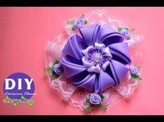 Diy Hermosa flor tela organza o tul y cordón cola de ratón. Organza Bows - YouTube