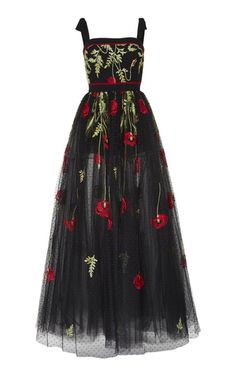 Shop Floral Embroidered Dress. This **Elie Saab** Floral Embroidered Dress features a sleeveless body with embroidery throughout the bodice and skirt.