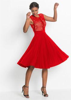 fa6164e8ae Csipkés ruha • szignál piros • bonprix áruház Alkalmi Ruhák, Kis Fekete  Ruhák, Ruházat