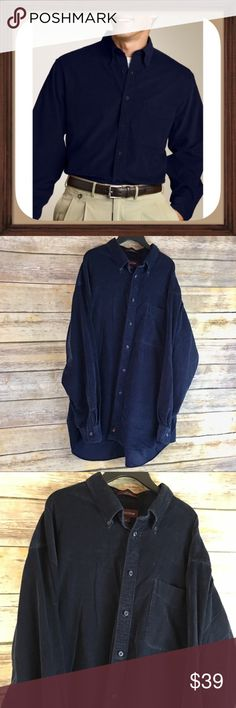 Nordstrom Navy Blue Corduroy Button Down Shirt Navy blue Corduroy button down shirt. Size xl. 100% cotton. In excellent used condition. 32 inches long. 24 inch sleeves. 26 inches arm pit to arm pit Nordstrom Shirts Casual Button Down Shirts
