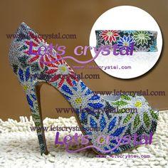swarovski crystal diamante 100  Hand made open toe by linajoyce, $280.00
