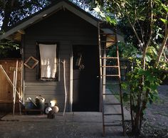 shed at sunset Backyard Sheds, Garden Sheds, Little Houses, Small Houses, Shed Cabin, Sleeping Porch, Shed Colours, Potting Sheds, Home Landscaping