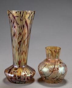 Lot:251: Kralik Pallme-Konig art glass vase, Lot Number:251, Starting Bid:$200, Auctioneer:Quinn's Auction Galleries, Auction:251: Kralik Pallme-Konig art glass vase, Date:04:00 AM PT - Sep 13th, 2008
