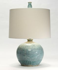 Nineteen Mercier Elegant Home Furnishings And Decor Nicosa Lamp In Cypress Blue