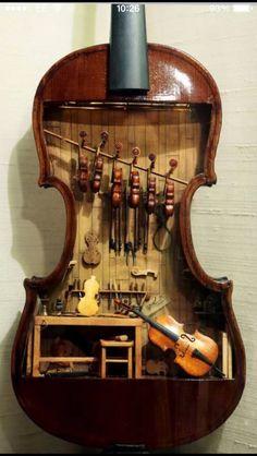clarecoxy:  Miniature violins!
