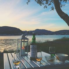 Drinking Laphroig in Norway. (Photo taken by @sooten)