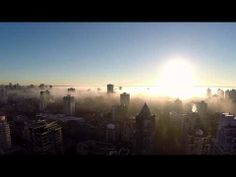 Vancouver Skyline In Fog at Sunset (1080p) - YouTube
