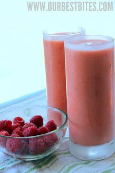 Raspberry-Mango Smoothies