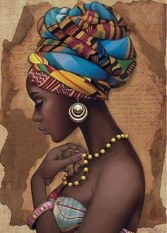 African Art Decor Cross Stitch Pattern - African Art Print - African Decor - Black Women - Embroidery - African Wall Art - PDF File - My Pin Black Girl Art, Black Women Art, Art Girl, Art Women, African Wall Art, African Art Paintings, African Artwork, African Drawings, African American Artwork