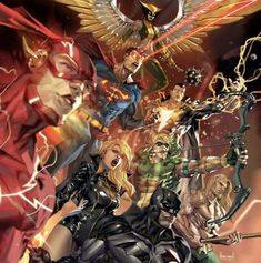DC Comics. Comic Book Artwork • Justice League by Kael Ngu. Follow us for more awesome comic art, or check out our online store www.7ate9comics.com Dc Comics Heroes, Dc Comics Art, Comic Art, Comic Books, Justice League, Store, Awesome, Check, Artwork