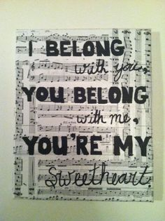 Song Quote Canvas
