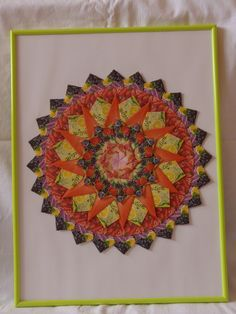 hand made by dadadj  tea bag mandala 30x40cm 20€