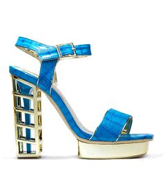 Another great find on #zulily! Lady Couture Blue Cage Sandal by Lady Couture #zulilyfinds