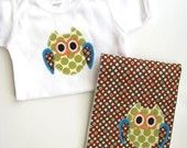 appliqued owls! Lots of detail in these pieces.