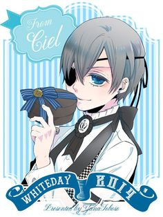 """Crunchyroll - """"Black Butler"""" Author Celebrates White Day with Character Illustrations"""