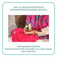 Unforgettable moments: Day 21 #blogchatterA2Z - Damuru Creations