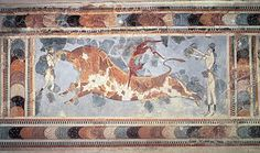 Giostra Di Cnosso quest'immagine confrontata con la precedente permette di individuare chiaramente l'adoperato del restauro d'integrazione di Evans
