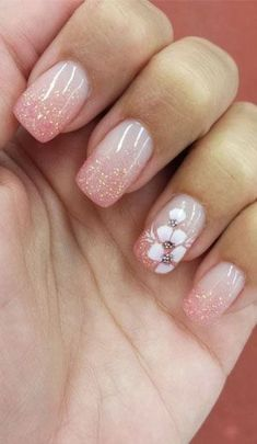 40 Spring nails design and ideas with flowers  #floral