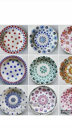 1 Decembrie, Dot Painting, Decorative Plates, Mandala, Dots, Ceramic Painting, Pointillism, Geography, Dishes