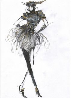 Gallery For > Pencil Sketches Of Fashion