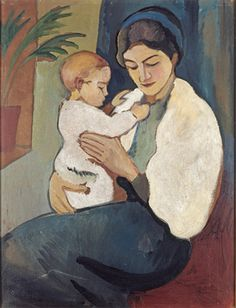 August Macke,   Mother and Child, 1911, oil on canvas, 61.5 x 47.5 cm, privately owned  © Wolfgang Morell, Bonn