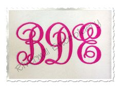 Fancy Monogram Machine Embroidery Font by RivermillEmbroidery