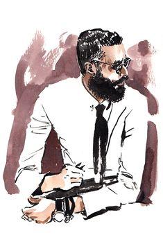 Eli Infante fashion illustration