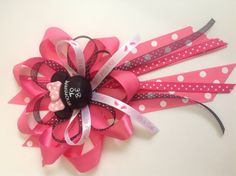 Hey, I found this really awesome Etsy listing at http://www.etsy.com/listing/153204279/mommy-to-be-bow-for-minnie-mouse-baby