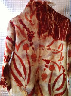 Beautiful Eco Printed Jacket (Unfortunately the instructions are not in English)