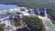 Jeden ze sedmi přírodních divů světa z pohledu dronu