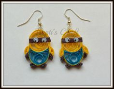 Hey, I found this really awesome Etsy listing at https://www.etsy.com/listing/238776222/paper-quilling-minion-earrings