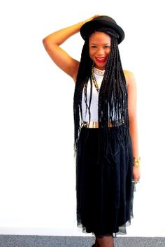 box braids  and a cute outfit to go along with it