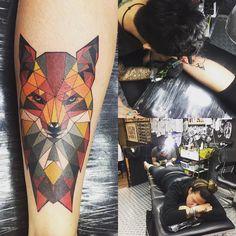 Photo by (vsimunec) on Instagram | #thefoxx #motherfoxx #tattoo #girlswithtattoos #geometrictattoo #bloodyinktattoomalaysia #malaysia #traveller #lowerlegtattoo #thishurt #lowerlegtattooshurt #fox Lower Leg Tattoos, Tattoo Designs, Fox, Instagram, Tattooed Guys, Tattoo Patterns, Foxes, Design Tattoos