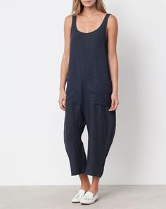 Ilana Kohn Gary Jumpsuit in Faded Black Linen, size L