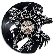 Uhren - Zelda Geschenk Vinyl Record Wanduhr Home Decor Kun - ein Designerstück von TokTikdesign bei DaWanda Zelda, Record Art, Wall Clocks, Cnc, Crafts, Accessories, Home Decor, Creative Walls, Picture Clock
