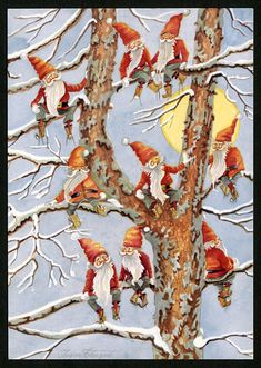 Look like cardinals in a tree... Julkort av Ingvor Holmqvist