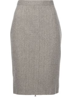 Herringbone pencil skirt for fall.