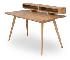 Stafa Desk - alt_image_one Wood Projects, Woodworking Projects, Interior Decorating, Interior Design, Gold Wood, My Room, Dining Bench, Kids Room, Furniture Design