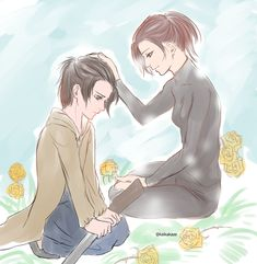Yellow roses = forgiveness In memory of Sasha, the best and most awesome sniper in the survery corps. I also wrote it in Insa before, but I'll write it again. I am very upset about Sashas death, but I can't hate Gabi for shooting her. Gabi tries to...