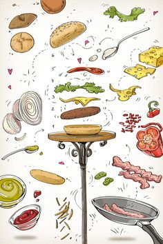 """Alya Mark is like she says in her blog """" an illustrator, a cook and a marvellous time-waister""""... Let's enjoy these art-recipes!!!"""
