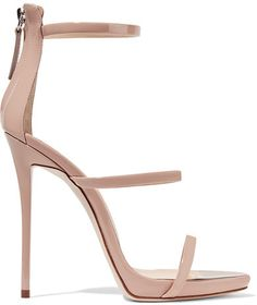 Giuseppe Zanotti - Harmony Patent-leather Sandals - Blush