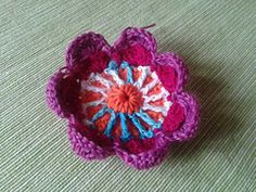 Ravelry: Add. Flower for Sophie's Universe free pattern by Crotchknitcat - Susanne Lohse