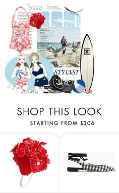 """TREND ALERT: SWIMWEAR 2017"" by scapin ❤ liked on Polyvore featuring Miu Miu, Chanel and J.Crew"