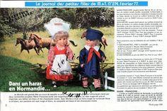 Page Poupée Modes et Travaux , Février 1977 Marie Françoise et Jean Michel