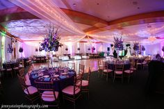 Enchanted forest decor - bat mitzvah - birthday - purple - blue - turquoise - design by DB Creativity