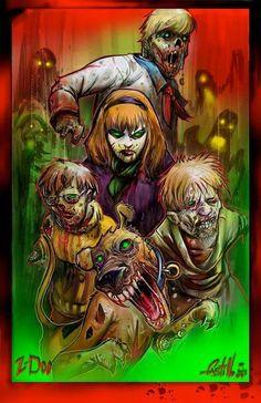 Zombie scooby hunter doo