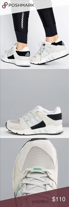 ADIDAS EQUIPMENT  9 SPORT PERFORMANCE SNEAKER BREATHABLE MESH UPPER. SUEDE OVERLAYS. LACE UP FASTENING. PADDED TONGUE AND CUFF. SIGNATURE THREE STRIPES. CHUNKY SOLES. MOULDED THREAD. WIPE WITH DAMP CLOTH. 59% REAL LEATHER. 50% TEXTILE UPPER. Adidas Shoes Sneakers