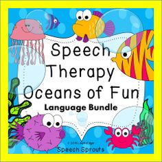 $ Summer Language Skills Ocean Style! Two fun in the ocean products : Smiley Shark Speech Therapy Book Companion and Diver, Diver Who Can it Be? An adorable Reader Focusing on Who? questions
